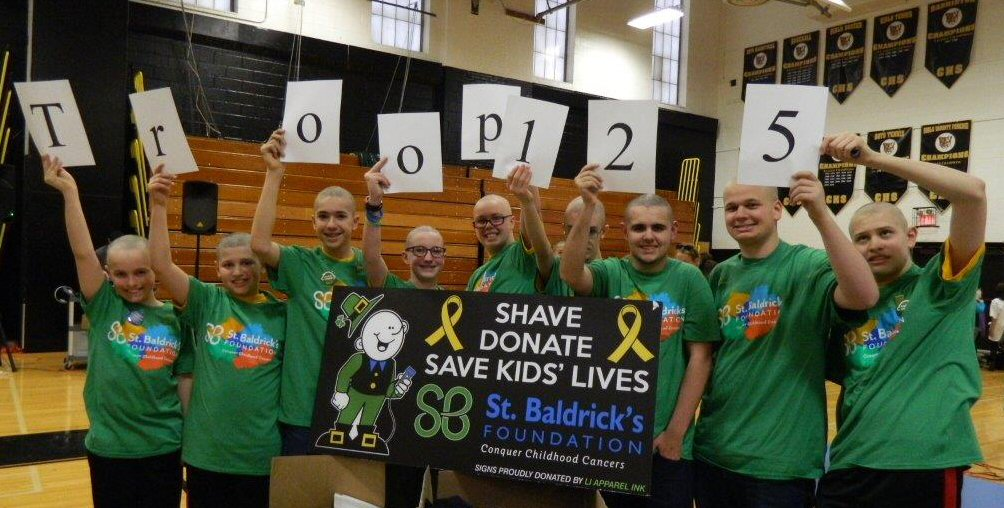 Troop 125's St Baldricks Team